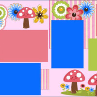 NEW!! Grammie & Me Premade 2-page 12 X 12 Scrapbook Layout