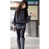 Stylish and Sweet Cowl Necked Buttocks Tight Long Blouse China Wholesale - Sammydress.com