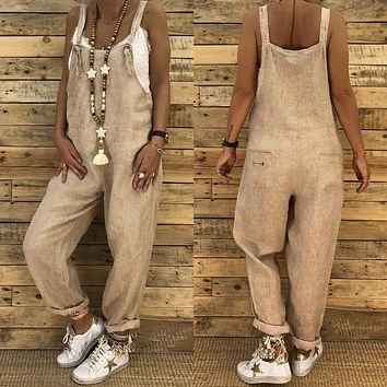 c115f85203d2 New Fashion Women Jumpsuit Romper Dungarees Sleeveless Overall L