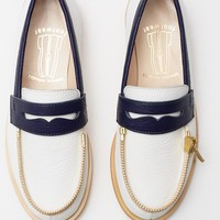 Ketevane Maissaia Bicolor Zipper-Top Loafers - WOMEN - JUST IN - Ketevane Maissaia