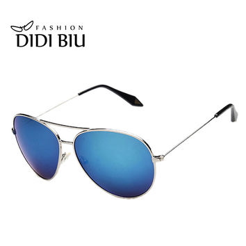 DIDI Polaroid Big Glasses Military Aviator Sunglasses Men Women Brand Alloy Frame Cool Blue Coating Eyewear Lunettes Homme H087