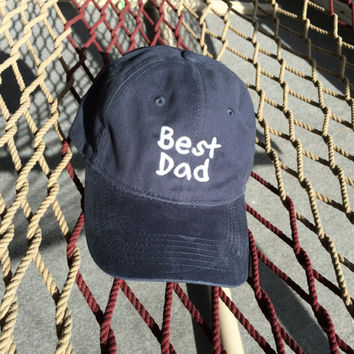 Best Dad - Navy W/White Letters