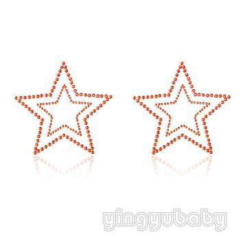 Body jewelry nipple ring Star silicone Adhesive nipple stickers sexy breast Disposable Milk Paste Anti Emptied free shipping