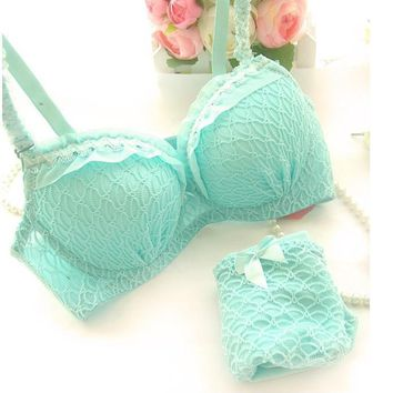 2017 Ladies Women Sexy 4 colour Underwear 3/4 Cup Padded Lace Sheer Bra Cup A B ONLY