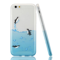 Diving Penguin iPhone 6S 6 Soft Case