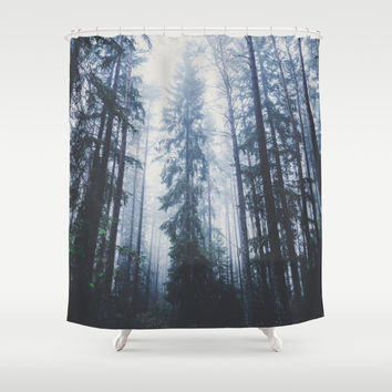 The mighty pines Shower Curtain by happymelvin