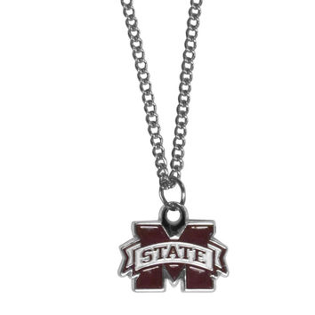 Mississippi St. Bulldogs Chain Necklace with Small Charm CN45SC