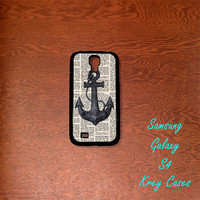 Samsung Galaxy S4 Case,Nautical Anchor Book art Samsung Galaxy S4/S3 Phone case,  Samsung Galaxy S3 Cases, Galaxy S4/ S3 case