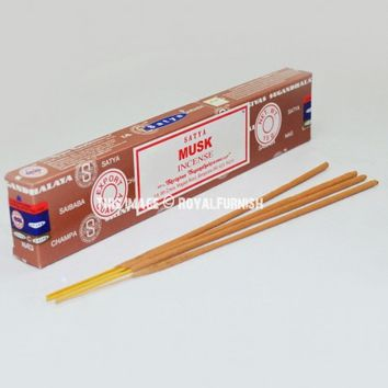 Satya Sai Baba Musk Incense Sticks 15 Gram on RoyalFurnish.com