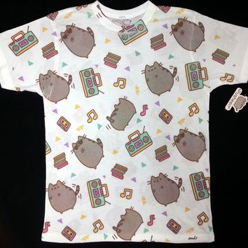 Pusheen The Cat DANCE PARTY PUSHEEN Unisex T-Shirt NWT Licensed & Official