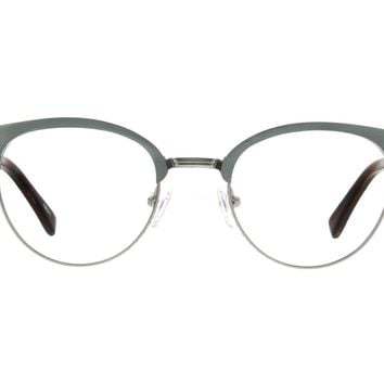 Silver Browline Eyeglasses #199311 | Zenni Optical Eyeglasses