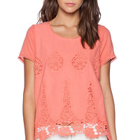 LA Made Donna Keyhole Top in Coral