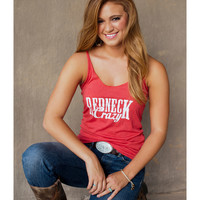 Women's Redneck Crazy Tank - Red
