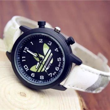 Stylish Awesome New Arrival Designer's Gift Good Price Trendy Great Deal Ladies Camouflage Couple Simple Design Casual Watch [415629377572]