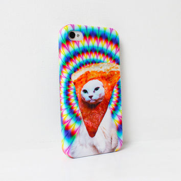 Trippy Pizza Cat . iPhone 4 case . iPhone 5 case