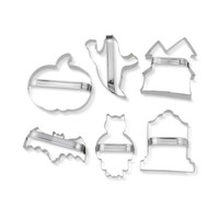 Williams-Sonoma Halloween Stainless-Steel Cookie Cutters with Handles, Set of 6