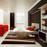 Storage wall with fold-away bed LGM 01 LGM Collection by CLEI   design Pierluigi Colombo
