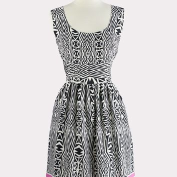Valley Tribal Print Dress