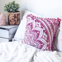 Purple Medallion Cushion Cover