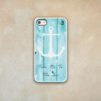 Beach Wood  iphone Case 5 4 4s - Iphone 5 - Iphone 4 - Iphone 4s - Iphone Cover -  Take Me To The Sea Phone Cases by Luv Your Case (151)
