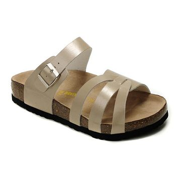 Birkenstock Munich Sandals Artificial Leather Bisque - Ready Stock
