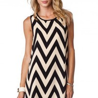 Forever Zig Zag Tank Shift in Creme Classic - ShopSosie.com