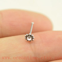 Nose ring,little flower nose stud,316L Surgical Steel Nose Rings,cute flower nose stud,girlfriend gift,oceantime
