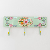 Hand-Painted Floral Wall Hook