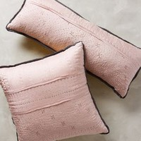 Stitched Silk Pillow by Anthropologie