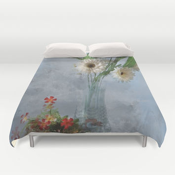 Wildflower Still LIFE Duvet Cover by Theresa Campbell D'August Art