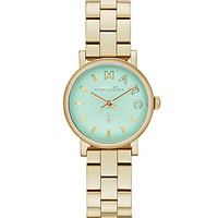 Marc by Marc Jacobs Mint-Dial Goldtone-Finished Stainless Steel Bracelet Watch