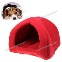 Excellent Foldable Soft Pet Tent Indoor Outdoor Safety House Bed for Puppy Cat Rabbit - Red