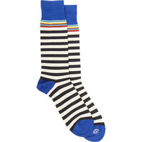 Stacked Rainbow-Striped Midcalf Socks