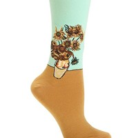 Hot Sox Women's Sunflower Trouser Socks