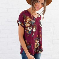 Saving Grace Floral Top