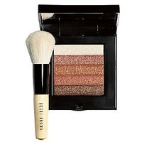 Bobbi Brown Bronze Shimmer Brick Compact with Mini Face Blender Brush — QVC.com