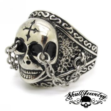 """The Chain"" Fleetwood Mac Skull Ring (459)"