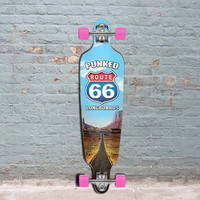 "Route 66 Punked Drop Through Longboard 40"" The Run"