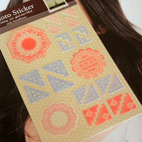 Paper Photo Corner Stickers Red Lace Polaroid Instax Film Decoration Kawaii DIY Srapbook Album