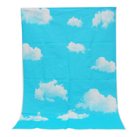 3x5ft Outdoor Blue Sky White Clouds Theme Photography Background For Studio Photo Props Vinyl Photographic Backdrop cloth 1x1.5m
