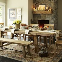 Benchwright Reclaimed Wood Dining Table | Pottery Barn