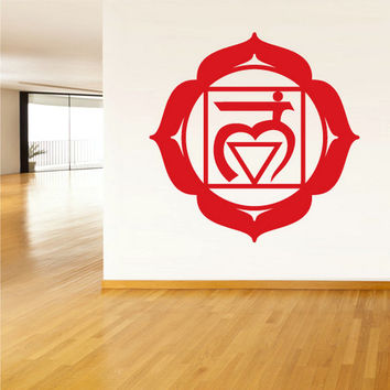 rvz1306 Wall Decal Vinyl Sticker Decals Root Chakra Indian Om