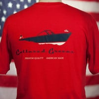 American Made Boat Tee in Red by Collared Greens