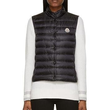 Moncler Black Quilted Down Liane Vest
