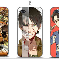 Attack on Titan merchandise mikasa levi sasha mini card Iphone 4/4s/ iphone 5 case