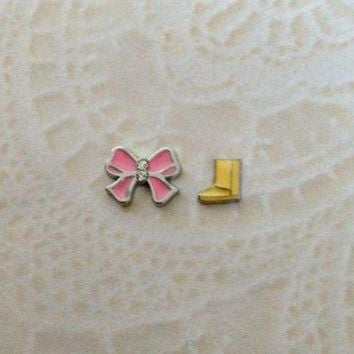 DCCK8X2 Floating charms Light Pink Bow ... Ugg boots
