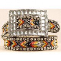 Nocona Southwest Beaded Inlay Rhinestone Belt - Sheplers