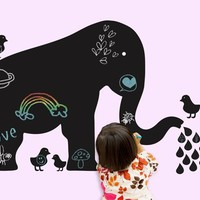 Baby Elephant Chalkboard Decal - Wallcandy Arts