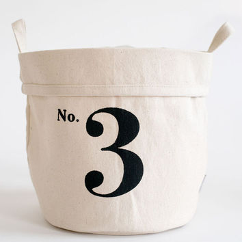 No. 3 Recycled Canvas Bucket