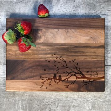 Personalized Cutting Board. Wedding Gift. Engraved Board. 1st Anniversary Gift. Wedding Anniversary. Couples Gift. Wood. Handmade. #10